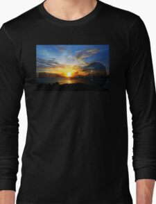 Guitar Sunset - Guitars by Sharon Cummings Long Sleeve T-Shirt