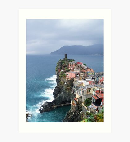 Vernazza in November Art Print