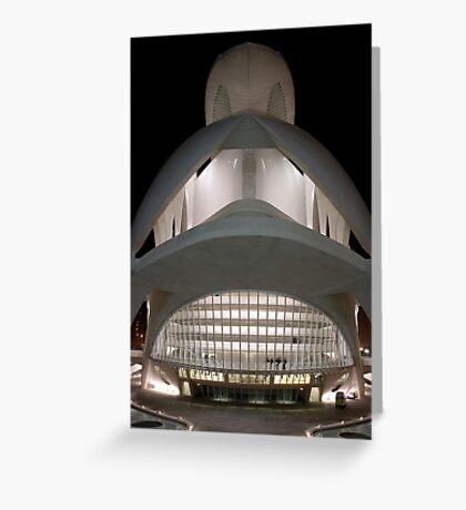 Palau De Les Arts - CAC -Lighted Palace Greeting Card