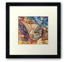 Geometric Fluidity Framed Print