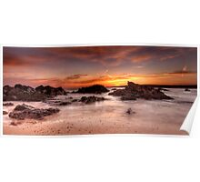 Sunset At Freshwater West Poster