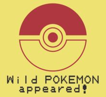 Wild POKEMON appeared! Kids Clothes