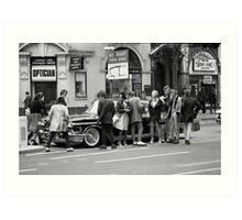 Vintage American car in London, 1976 Art Print