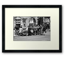 Vintage American car in London, 1976 Framed Print