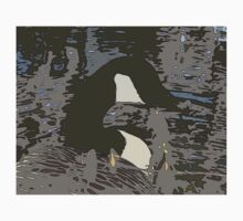 Abstract Camouflaged Style Canadian Goose T-Shirt