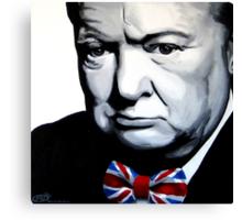 Sir Winston Churchill with Union Jack bow-tie Canvas Print