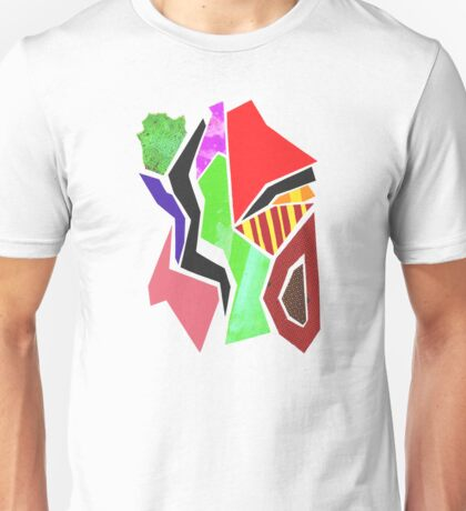 Mixed Media Abstract Collage I Unisex T-Shirt