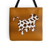 Cow With Brown Spots   Tote Bag