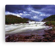 Storfosen falls,Sweden Canvas Print