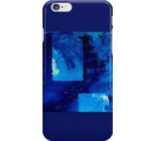 Positive Change Blue Abstract Art By Sharon Cummings iPhone Case/Skin