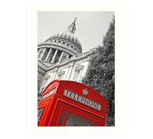 London phone box Art Print