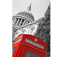 London phone box Photographic Print