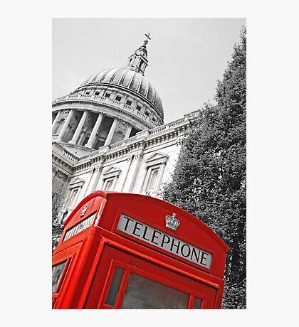 London phone box Photographic Print