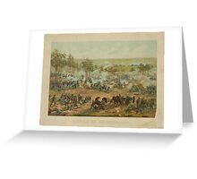Battle of Gettysburg by Paul Philippoteaux (1898) Greeting Card