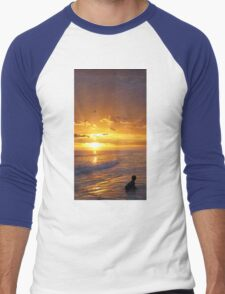 Not Yet - Sunset Art By Sharon Cummings Men's Baseball ¾ T-Shirt