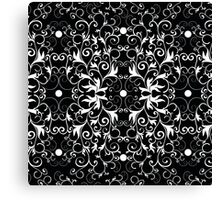 Black and White Abstract Pattern Canvas Print