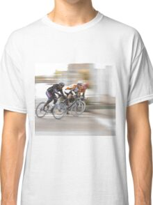 Cyclists Speeding into the Next Curve Classic T-Shirt