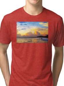 The Honeymoon - Sunset Art By Sharon Cummings Tri-blend T-Shirt