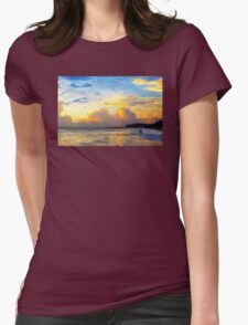 The Honeymoon - Sunset Art By Sharon Cummings Womens Fitted T-Shirt