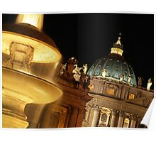 St Peter's at Night Poster