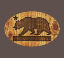 California Bear Wood Design by robotface