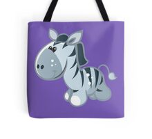 Funny cartoon zebra Tote Bag