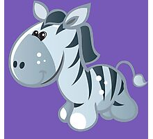 Funny cartoon zebra Photographic Print
