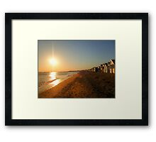 Beach Sunset HDR Framed Print