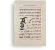The Queen of Pirate Isle Bret Harte, Edmund Evans, Kate Greenaway 1886 0015 The Proud Lady Canvas Print