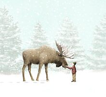 Boy and Moose by Eric Fan