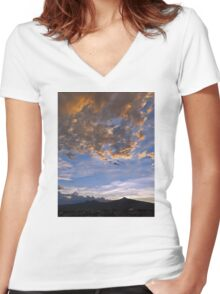 ©HCS Sunset June 20 IA. Women's Fitted V-Neck T-Shirt