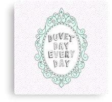 Duvet Day Canvas Print
