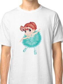 Cute Little Blue Vector Ballerina Classic T-Shirt