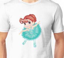 Cute Little Blue Vector Ballerina Unisex T-Shirt