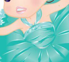 Cute Little Blue Vector Ballerina Sticker