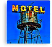 Avalon Motel Water Tank Sign Canvas Print