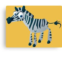 Cute goggle-eyed zebra Canvas Print