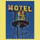 Avalon Motel Water Tank Sign T-Shirt by Robert Howington