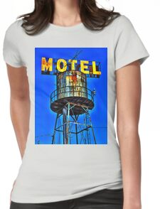 Avalon Motel Water Tank Sign T-Shirt Womens Fitted T-Shirt