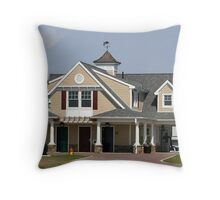 beach house front Throw Pillow