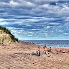 Beach Under Cloudy Skies by Monica M. Scanlan