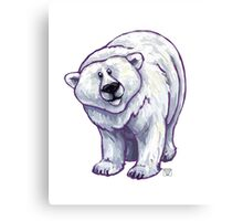 Animal Parade Polar Bear Canvas Print