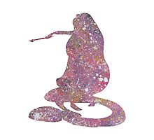 Abstract Tangled Rapunzel Silhouette Photographic Print