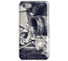 Country Kitchen in black and white iPhone Case/Skin