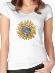 Sunflower Earth Women's Fitted Scoop T-Shirt