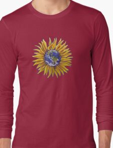 Sunflower Earth Long Sleeve T-Shirt