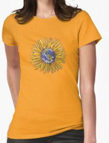 Sunflower Earth Womens Fitted T-Shirt