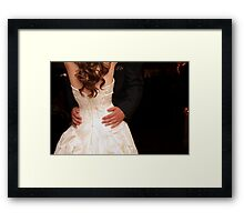 Caring hands will hold me... Framed Print