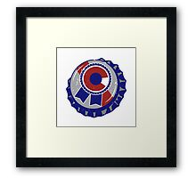 Colorado Blue Ribbon Bottle Cap - Classic Framed Print