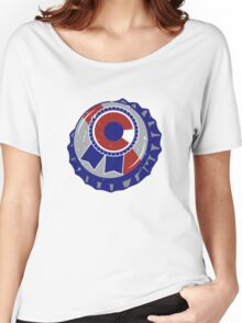 Colorado Blue Ribbon Bottle Cap - Classic Women's Relaxed Fit T-Shirt